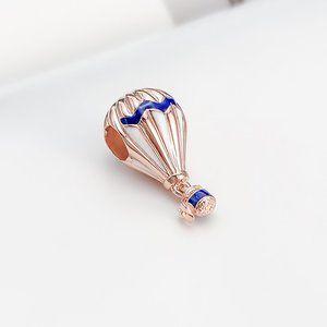 Blue Hot Air Balloon Travel Charm
